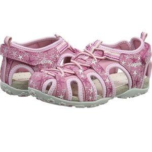 Girls pink Geox sandals